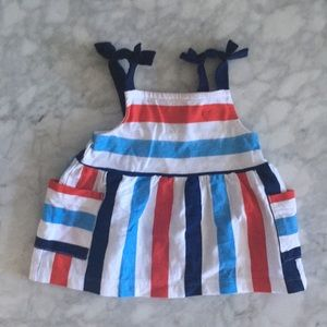 NWOT baby top - red White and blue!
